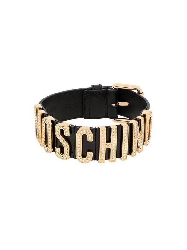 Moschino Logo Plaque Choker Necklace