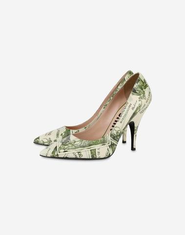 Moschino Watercolor Money Pumps