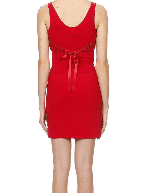 Moschino Zip Front Mini Bandage Dress