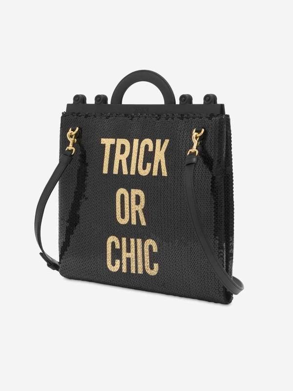 Trick Or Chic Sequin Shopping Bag