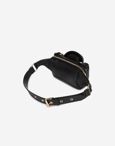 Moschino Biker Belt Bag In Nappa Leather