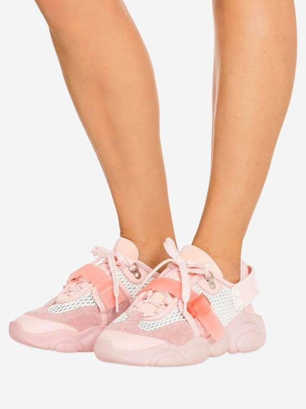 Moschino Pink Teddy Shoes Roller Skates
