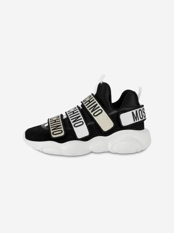 Moschino Black Teddy Sneakers With Strap
