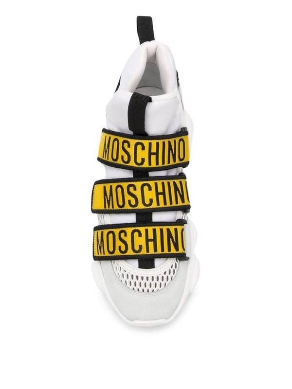 Moschino Teddy Touch Yellow Strap Sneakers