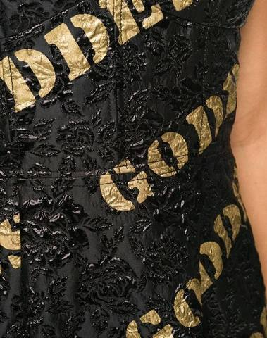 Moschino Embroidered Mini Goddess Dress