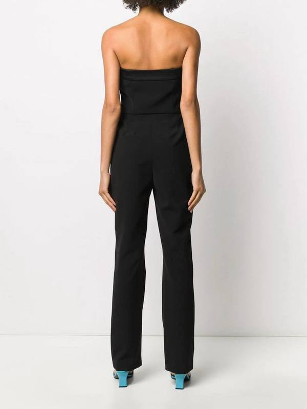 Moschino Strapless Pleated Jumpsuit