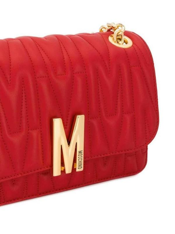 Moschino Red Quilted M Shoulder Bag