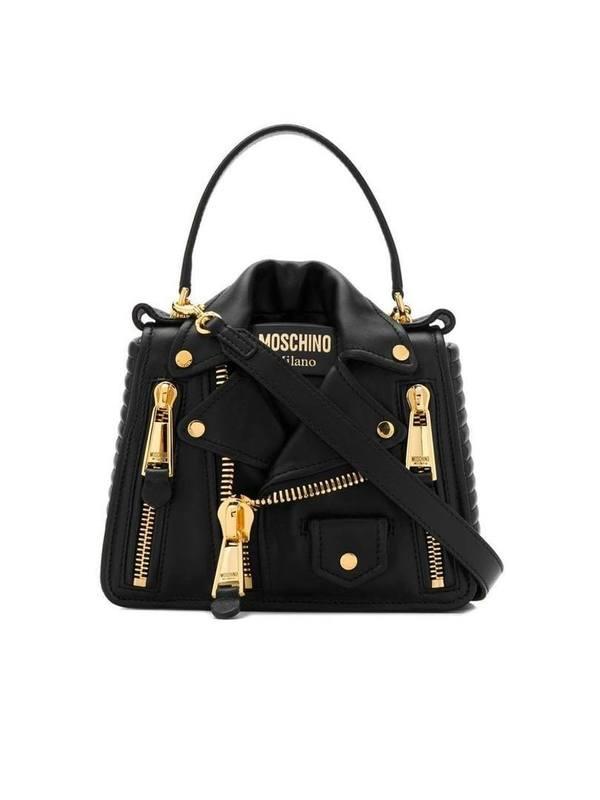 Moschino Black Biker Shoulder Bag