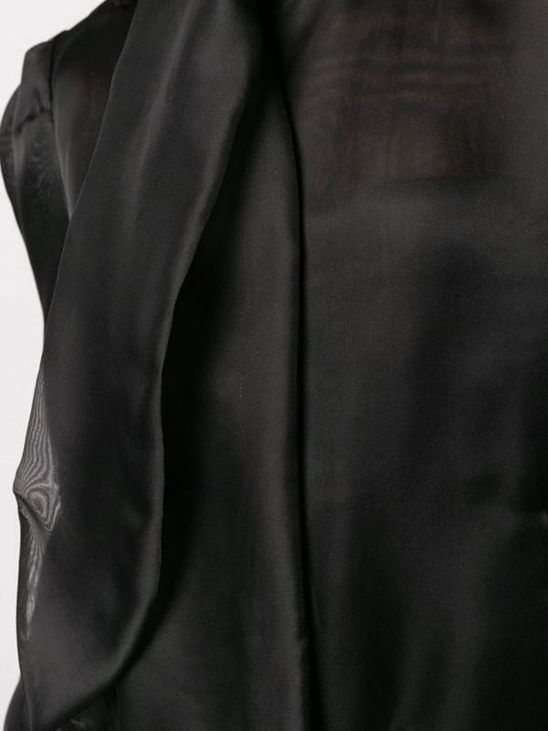Moschino Neck Tie Silk Blouse