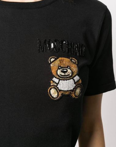 Moschino Embroidered Teddy T-Shirt