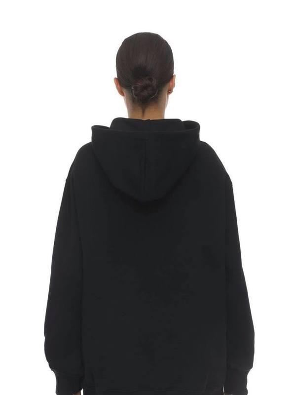 Moschino Black Logo Print Jersey Sweatshirt Hoodie