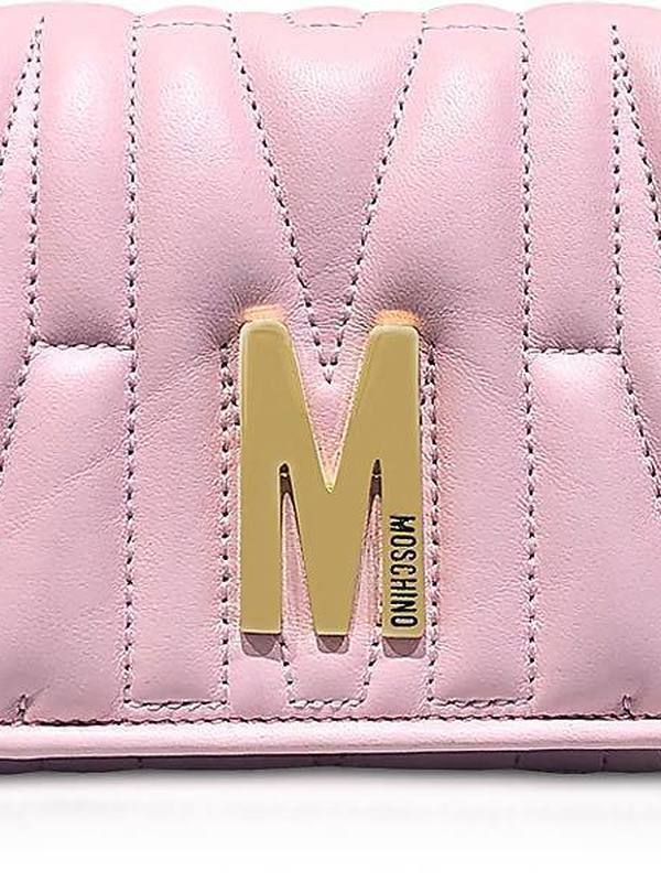 Moschino Pink M Quilted Wallet (Shoulder Bag)