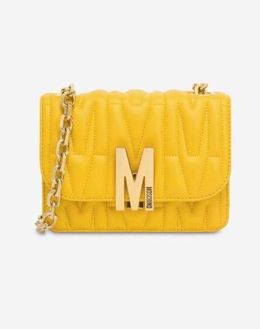 Moschino Yellow M Quilted Bag (Medium)