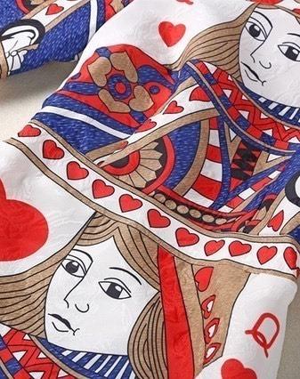 Poker Print Midi Dress