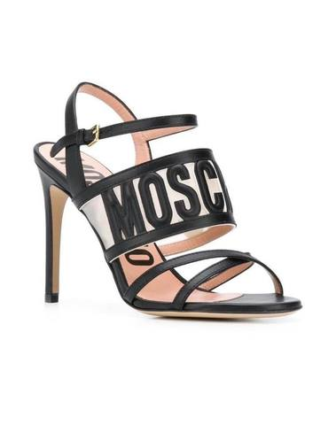 Moschino Embossed Logo Sandals