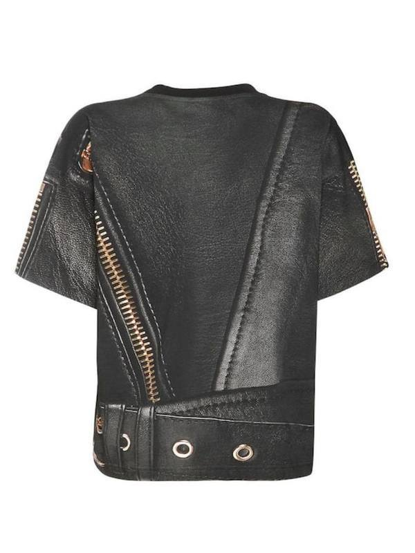 Moschino Printed Cotton Jersey Boxy T-Shirt