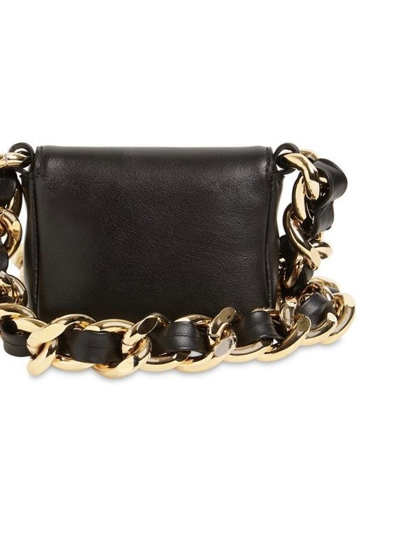 Moschino Micro Leather Shoulder Bag
