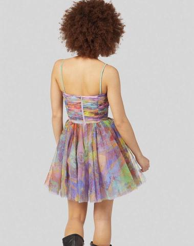 Versace Paisley Fantasy Print Tulle Dress