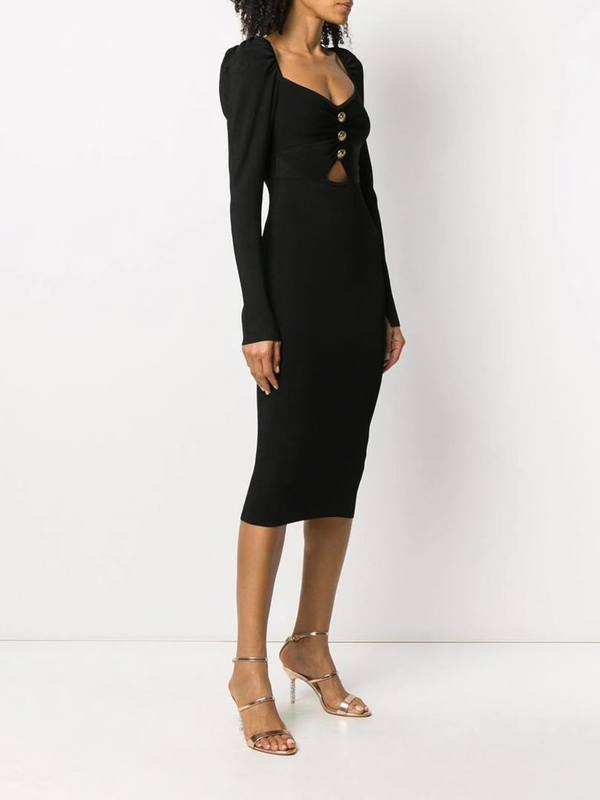 Versace JC Sweetheart Neck Fitted Dress