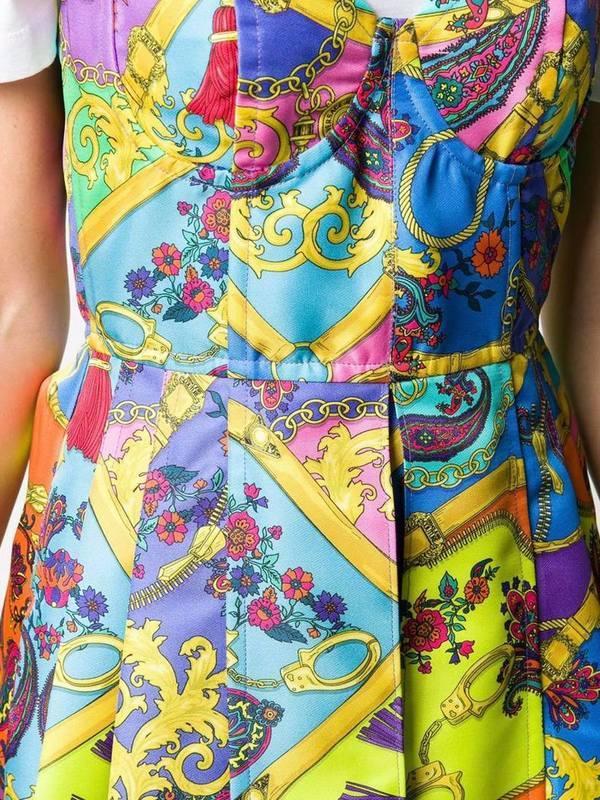 Versace JC Mix-Printed A-Line Mini Dress