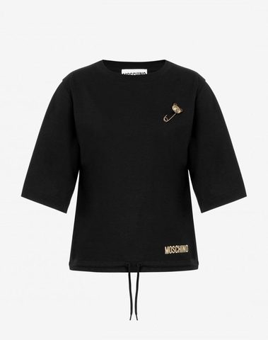 Moschino T-Shirt Teddy Bear Safety Pin