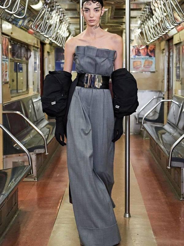 Moschino Macro Jumpsuit In Wool Gabardine