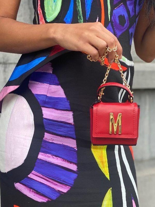 Moschino Logo-Embellished Red Mini Bag
