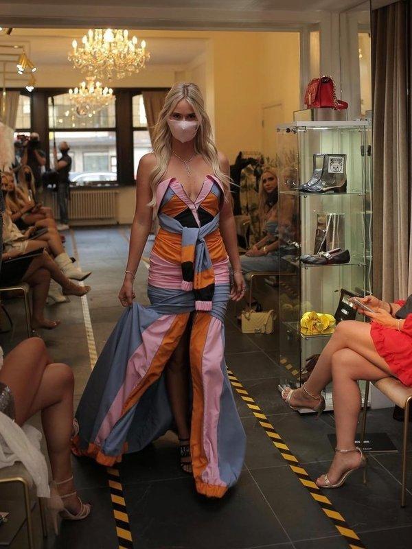 Moschino Multi-Colour Nylon Dress