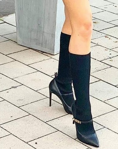 Moschino Mary Jane Pumps With High Sock