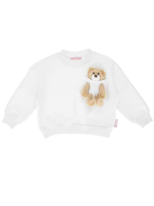 'Kids Of Heart' Tracksuit Set (WHITE) With Teddy Bear