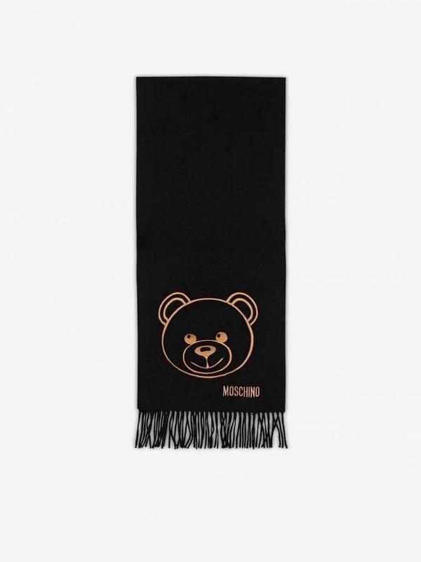 Moschino Teddy Bear Merino Wool Scarf