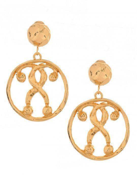 Moschino Question Mark Earrings Gold